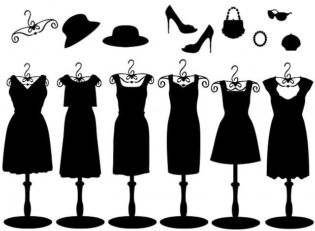šaty na stojanech