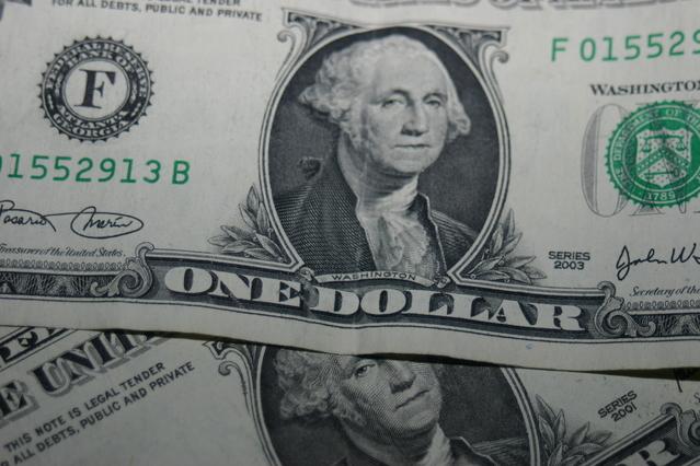 detail na americkou dolarovou bankovku