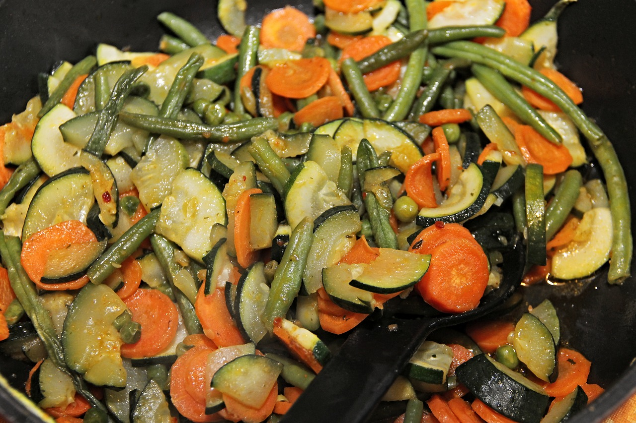 zelenina na pánvi